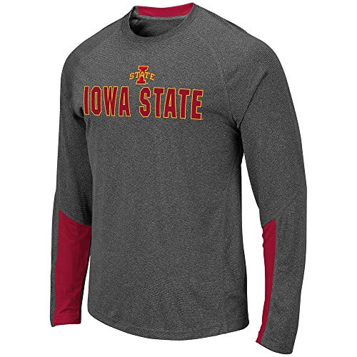 (Colosseum Mens Iowa State Cyclones Brisbane Long Sleeve Tee Shirt - L)