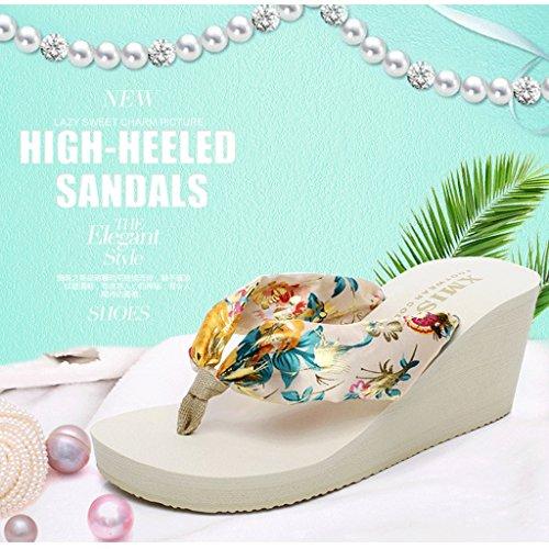 Per Suola Pantofole Indossa Sandali Donna Con 4 Estive dimensioni Spessa Uk Spiaggia 0 xtrB0qrAw