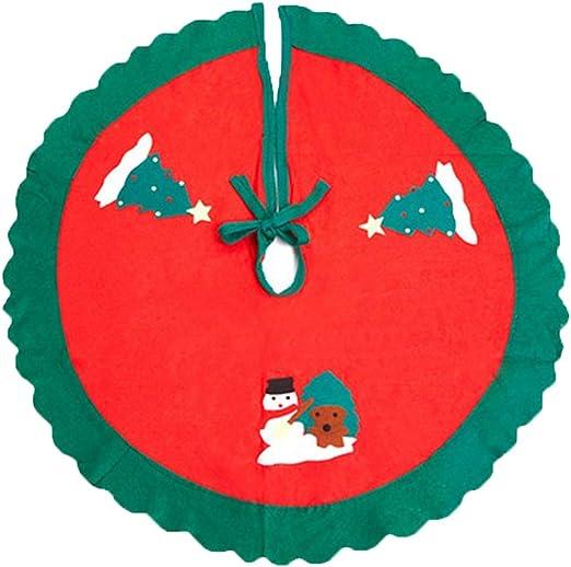 LPxdywlk Falda para árbol De Navidad 80cm Redondo Plegable ...