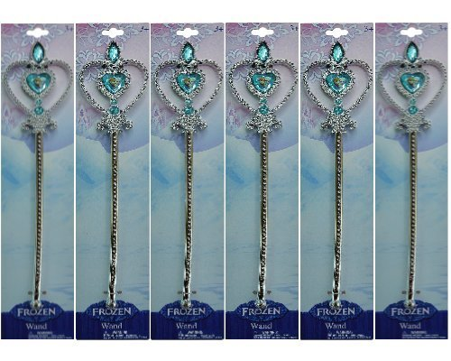DISNEY FROZEN - Elsa and Anna Birthday Party Favor Wand Set Consisting of 6 Wands Measuring 12