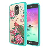 LG Stylo 3 Case, LG Stylo 3 Plus Case, Capsule-Case Hybrid Slim Snap-on Case w/TPU Edge (Teal Green) for LG Stylo3 LS777 M430 L83BL L84VL / LG Stylo3-Plus TP450 MP450 - (Peafowl Peacock)