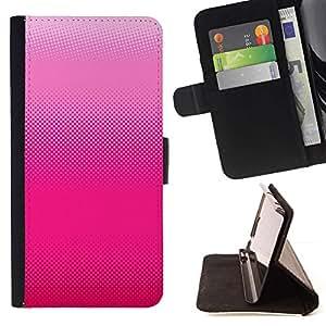 Momo Phone Case / Flip Funda de Cuero Case Cover - Patrón Bitmap Arte fucsia blanca - Huawei Ascend P8 Lite (Not for Normal P8)