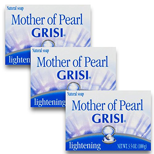Grisi Natural Mother Of Pearl Soap, 3.4 Oz (Pack of 3)