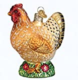 Old World Christmas Glass Blown Spring Chicken Ornament