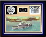 Navy Emporium USS MORENO AT 87 Framed Navy Ship Display Blue