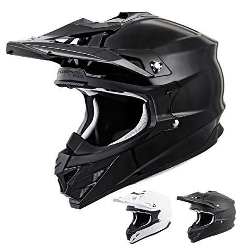 Scorpion VX-35 Solid Off-Road Motorcycle Helmet (Matte Black, Medium)