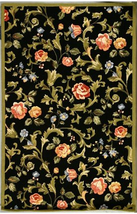 Safavieh Country & Floral Chelsea Black Runner Hand Hooked 2' 6'' x 12' Area Rug