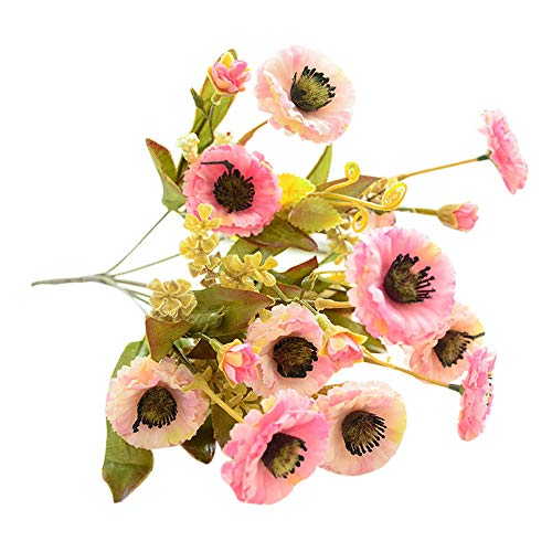 AKIMPE Artificial Fake Flower Faux Greenery DIY Decorations Forever Petals Long Stem Vine Preserved Gift for Wedding Party Home Birthday Garden Her Women Pink ()