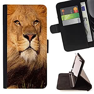 - Lion King Gorilla - - Premium PU Leather Wallet Case with Card Slots, Cash Compartment and Detachable Wrist Strap FOR Samsung Galaxy S3 MINI I8190 King case