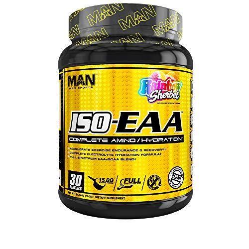Man Sports Iso-eaa Amino Acid Hydration Recovery Formula, Rainbow Sherbet, 690 Gram