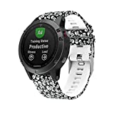 MOACC Garmin Fenix 5 Accessory Band,Silicone Printed Replacement Band Strap for Garmin Forerunner 935,Fenix5 (Black White Skull) Review