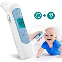 Haofy Baby Thermometer, Medical Infrared Forehead & Ear Temperature Digital Thermometer for Baby, Kids, Adults with FDA and CE Approved - with Object Mode, 32 Group Memories, Fever Indicator, Silent Mode, Fast Measurement, Instant Reading
