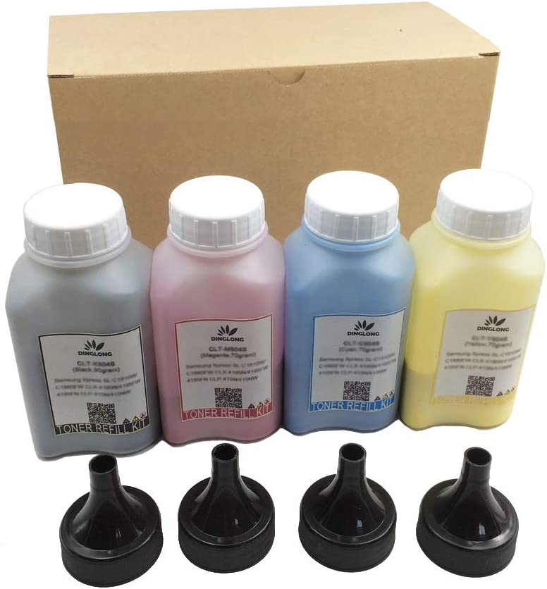Misee Toner Refill Powder for HP 201a CF400a CF401a CF402a CF403a Cartridge Used with HP Color Laserjet Pro MFP M277dw M252dw M277 M252 Pinter (Without Tools)