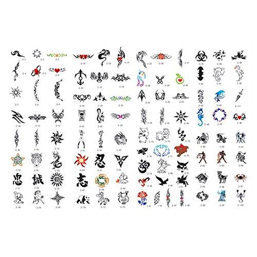 Master Airbrush Brand Airbrush Tattoo Stencils Set Book #2