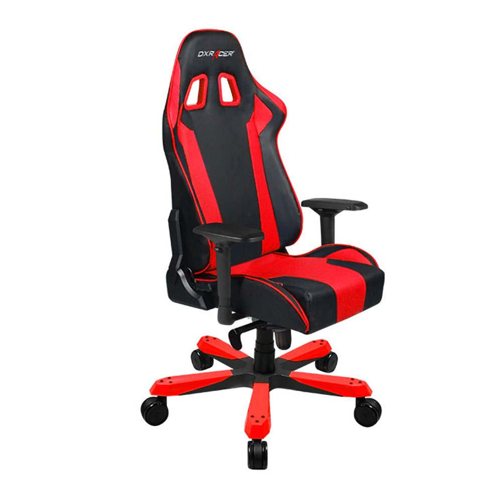 DXRacer King Series Big and Tall Chair DOH/KS06/NR Racing Bucket Seat Office Chair Gaming Chair Ergonomic Computer Chair Esports Desk Chair Executive Chair Furniture With Pillows(Black/Red)
