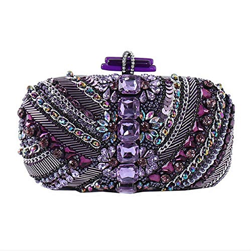 DHUYUN Evening Bag Purple Evening Bags and Clutches for Women