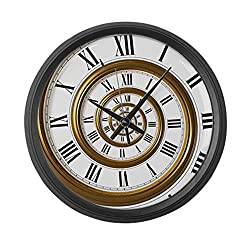 CafePress - Spiral - Large 17 Round Wall Clock, Unique Decorative Clock