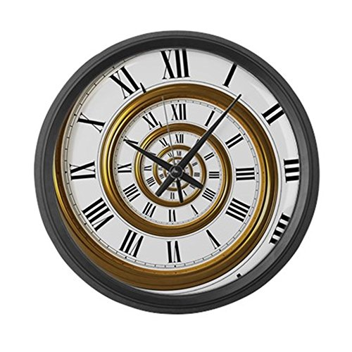 "CafePress - Spiral - Large 17"" Round Wall Clock, Unique Decorative Clock"