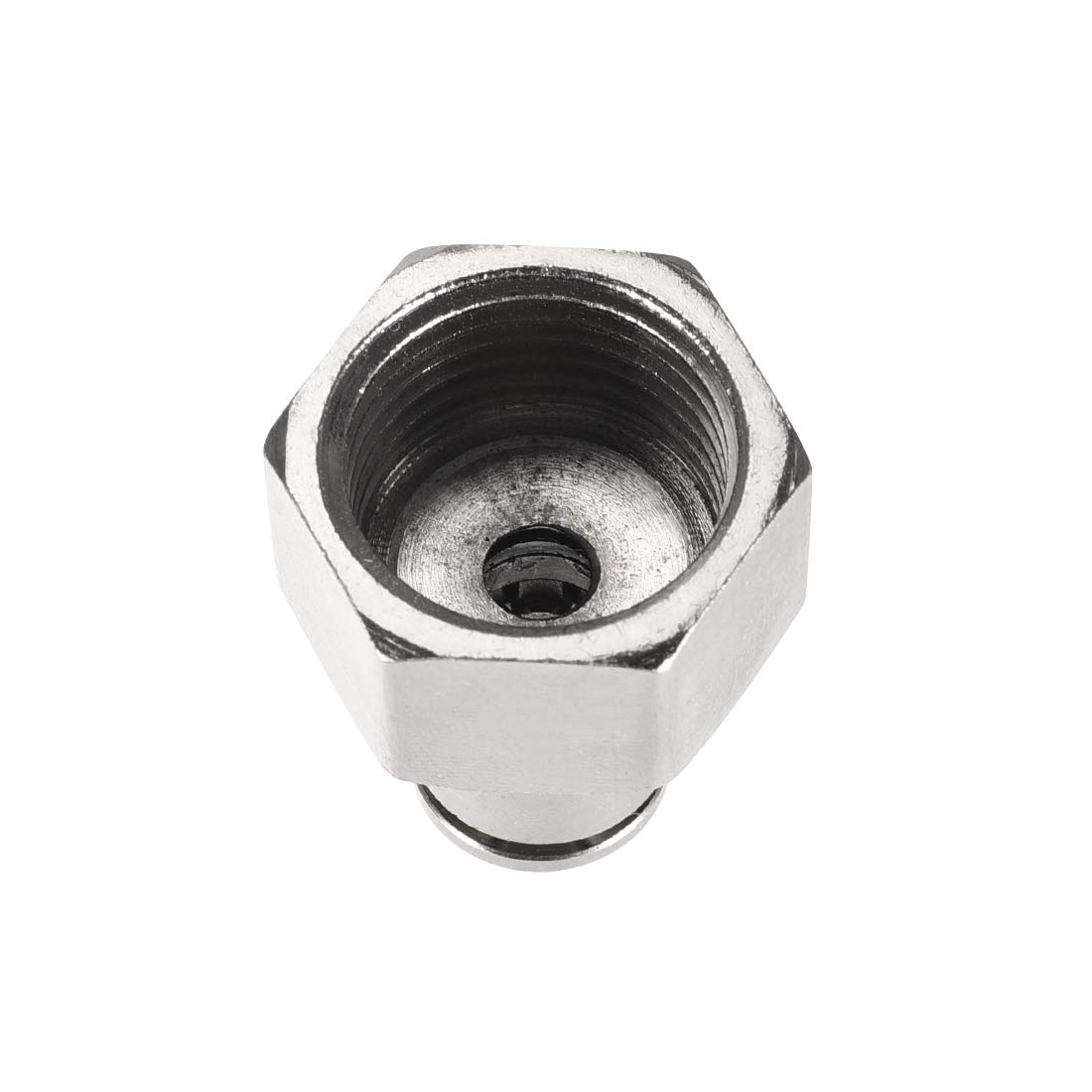 uxcell Push to Connect Tube Fittings 8mm Tube OD x 1//2 PT Female Straight Pneumatic Connecter Pipe Fitting Silver Tone 2Pcs
