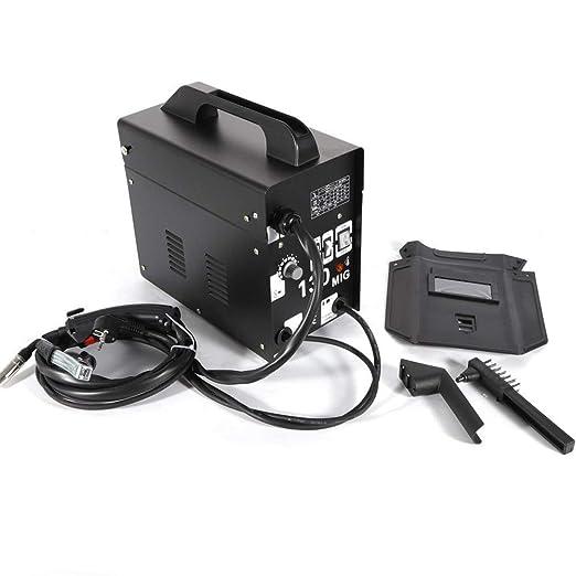 Yiiiby MIG soldaduras MIG130 electrodo electrodo profesional máquina de soldadura 120 A 220 V/230 V alambre de relleno soldador inverter dispositivo de ...
