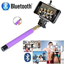 Selfie Stick iPhone 6 Plus - Bluetooth Selfie Stick iPhone 7 6 6s se 5 5s 5c 4 4s - iPhone Selfie Stick with Remote (Purple) Best Selfie Stick, Monopod Extendable Pole Galaxy S5 S6 S7 S8 - DaVoice