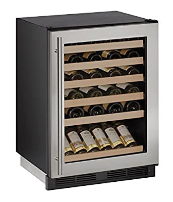 "U-Line U1224WCS13A Built-In Wine Storage, 24"", Stainless Steel"