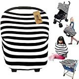 iZiv Ultrasoft 4-in-1 Multi-use Baby Stretchy Cover Car Seat Canopy/Nursing Cover/Shopping Cart Cover/Infinity Scarf Perfect Gift for Baby (Color-3)