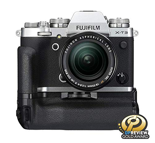 """Fujifilm X-T3 26.1 MP Mirrorless Camera with XF 18-55 mm Lens (APS-C X-Trans CMOS 4 Sensor, X-Processor 4, EVF, 3"""" Tilt Touchscreen, Fast & Accurate AF, Face/Eye AF, 4K/60P Video) - Silver 5"""