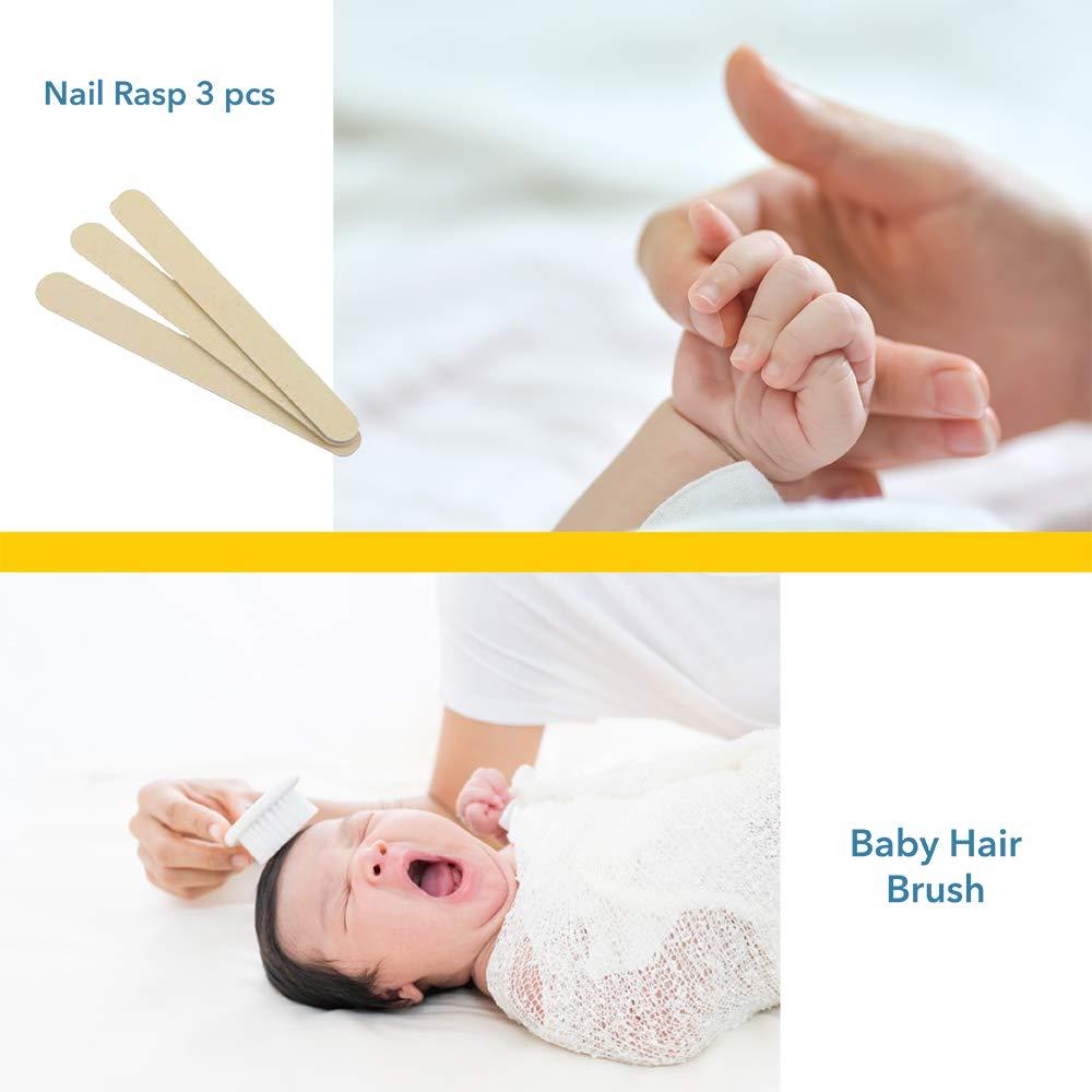 Rosa Babyjem Baby Pflege Set f/ür Neugeborene Pflegetasche 9 Teilig