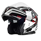 ILM Stealth Bluetooth Motorcycle Helmet Modular Flip up With Sun Shield Mp3 Intercom FM