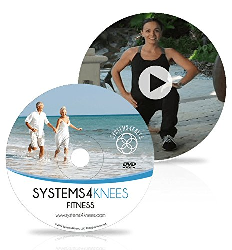 Knee Exercise Fitness DVD for Knee Pain Relief Developed by Registered Physical Therapist to Strengthen Muscles Around Knee Joint and Help Delay or Avoid Need For Surgery.