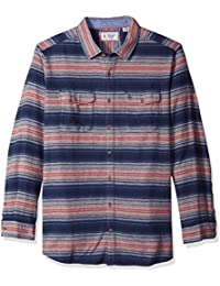 Men's Big and Tall Flannel Striped Shirt
