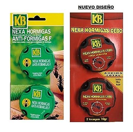 Anti hormigas KB - Trampa Cebo con insecticida autorizado para uso doméstico por el ministerio de sanidad - practico eficaz y seguro para casa y para jardín ...