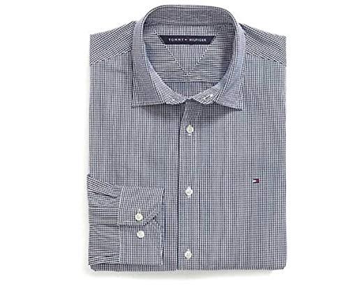 Tommy Hilfiger Custom FIT Stretch POPLIN Shirt Navy Blue