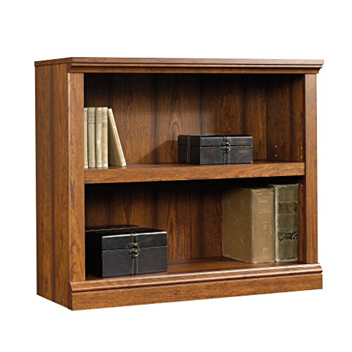 Sauder 413792 2-Shelf Bookcase, L: 35.28' x W: 13.23' x H: 29.92', Washington Cherry finish