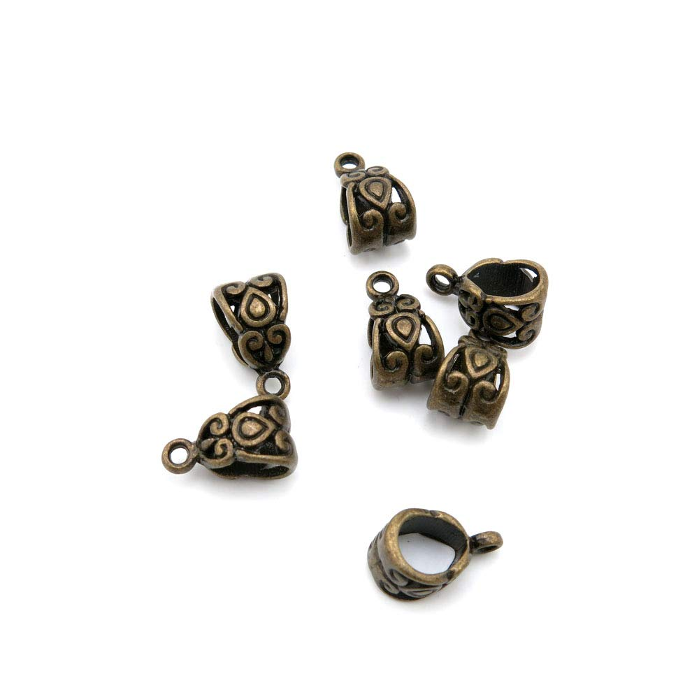 Price per 2250 Pieces Antique Bronze Tone Jewelry Charms Findings Arts Crafts Beading Making Charmes M7ZK4I Bail Connector Cord Ends