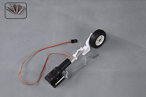 FMS RC Airplane Part - Front Landing Gear System with Retract Installed for 1400mm T-28D V4