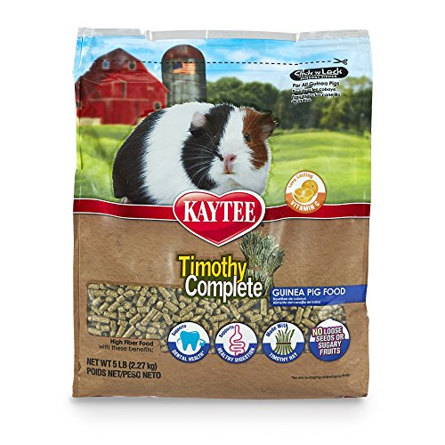Kaytee Timothy Hay Complete Guinea Pig Food, 5-lb bag (Pelleted Food)