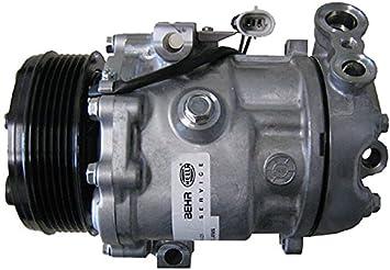 BEHR HELLA SERVICE 8FK 351 127-761 Compresor, aire acondicionado: Amazon.es: Coche y moto