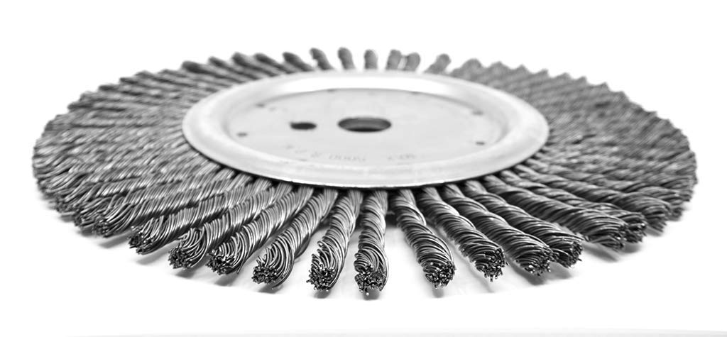 Benchmark Abrasives Expansion Joint Cleaning Wire Wheel, 12'' x 3/8'' x 1''  DPH, For Walk-Behind Street Saws