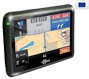 """MAPPY GPS miniE301 Europa + Funda gris metal para GPS con pantalla 4,3"""" + Soporte universal + Duplicador encendedor"""