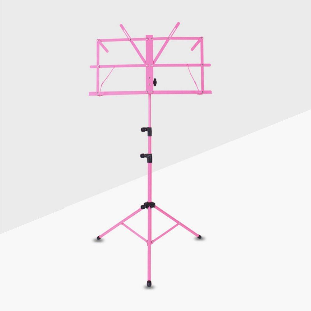 Xtlstore color/é Pupitre pliante en m/étal tr/épied support support avec sac de transport violet
