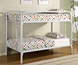 ACME Furniture 02188WH Thomas Bunk Bed, Twin, White