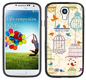 Birdcages Bird Cages Vintage Handmade Samsung Galaxy S4 Black Bumper Hard Plastic Case by supermalls
