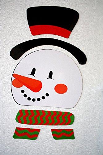 HORROR-HALL Refrigerator Locker Car-Frosty Snowman Puzzle Magnets-Novelty Holiday Decoration