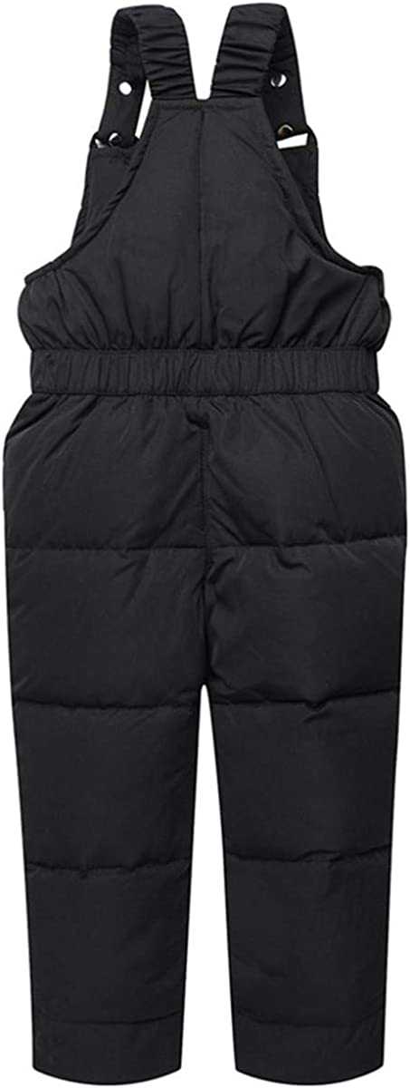 JELEUON Baby Girls Boys Two Piece Winter Warm Hooded Soild Fur Trim Snowsuit Puffer Down Jacket with Snow Ski Bib Pants