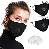 [2 Pcs] Mask of 4-Layer Reusable Face Protective Filtration, Anti-fog, Dust-proof Adjustable Headgear Full Face…