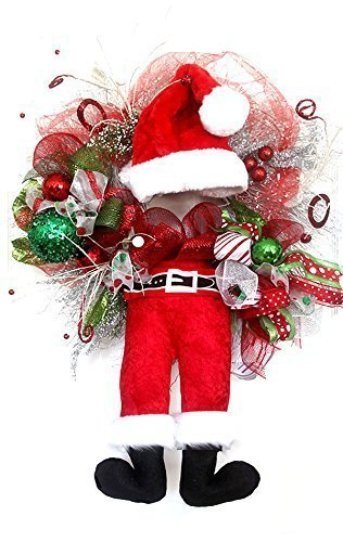 Amazon Christmas Santa Claus Wreath For Front Door Holiday