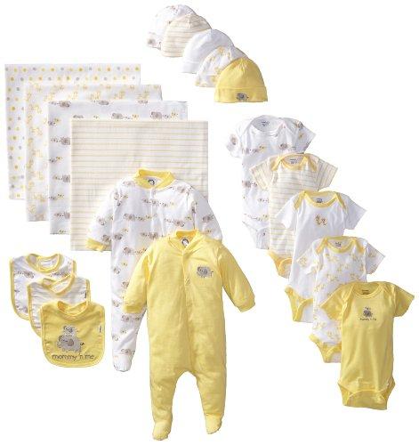 Gerber Unisex-Baby Newborn 19 Piece Newborn Essentials ...