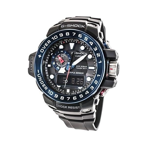CASIO Reloj Analógico-Digital para Hombre Correa en Resina GWN-1000B-1BER 3